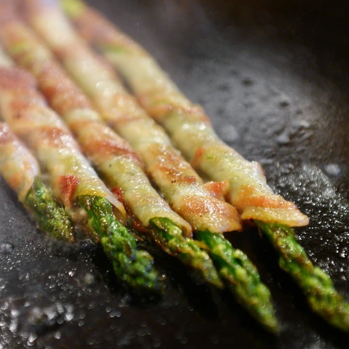 Meat wrapped asparagus