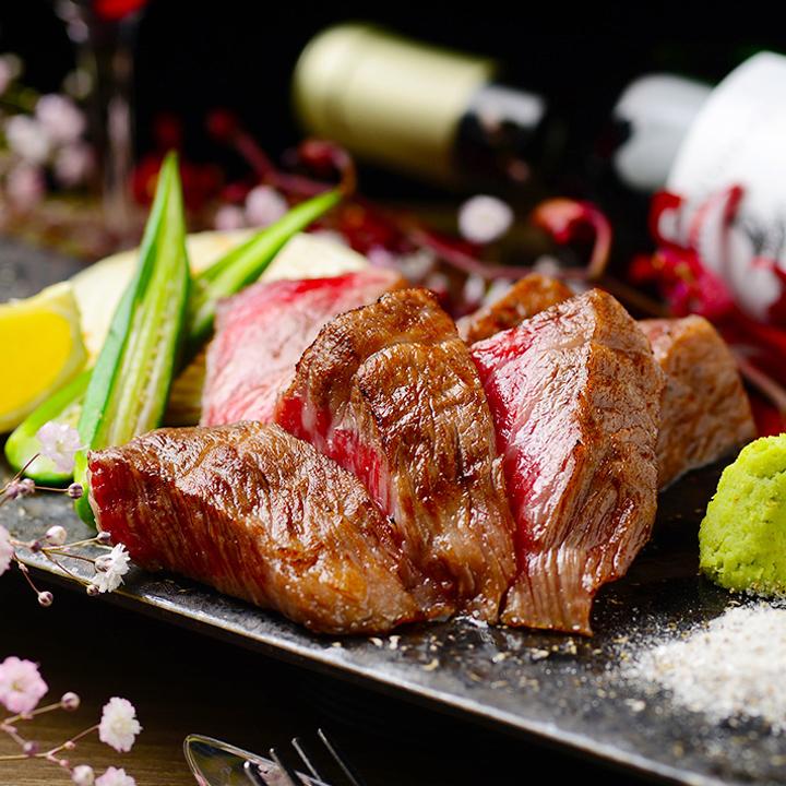 Kuroge Wagyu beef steak ~ with truffle salt and mountain auction ~