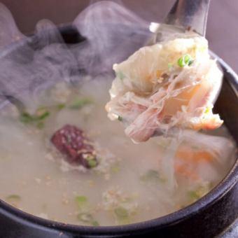 """炎風""""蔘鶏湯""""サムゲタンスープ"""