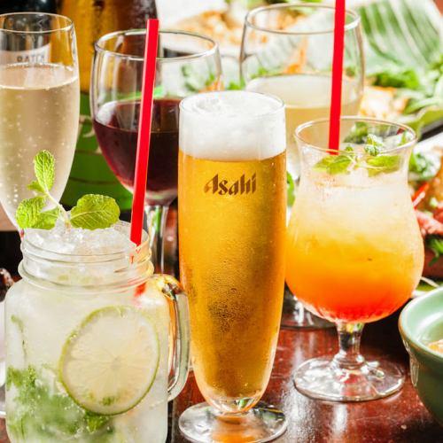 ビールやカクテル泡サングリアなど種類豊富にご用意。