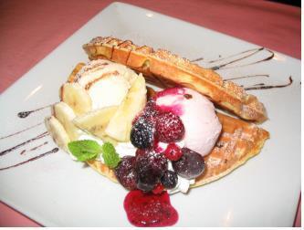 Omlette waffle