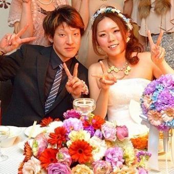 ≪Wedding≫結婚式2次会Plan料理8品+120分[飲放]+特典付  4000円(税抜)