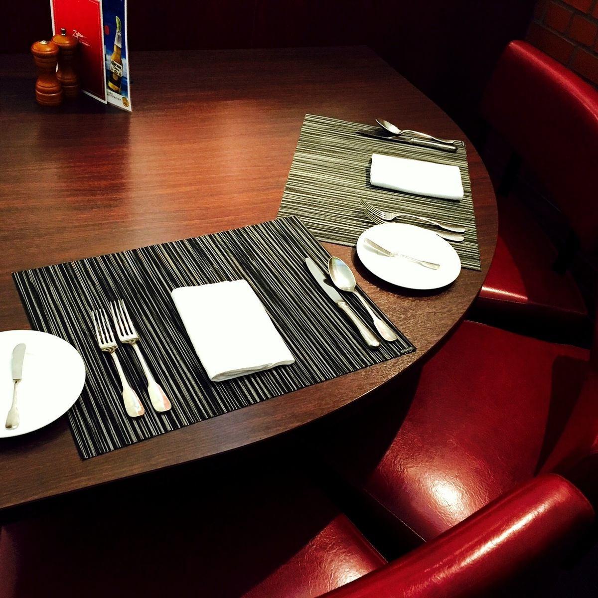 建议约会和用餐♪沙发座位限制为每天4对。
