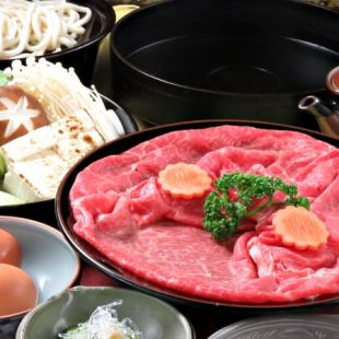 "【90 minutes with all you can drink】 Specialty of Sanyo Tei! ""Sukiyaki"" course 5400 yen (tax excluded)"