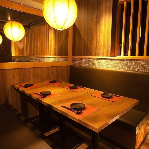 【ソファ個室2名~】雰囲気抜群のお洒落な店内!ゆったりとお寛ぎ頂けるソファー席は、静岡・新静岡での各種ご宴会に最適です。飲み会や宴会はもちろん、女子会にも◎!