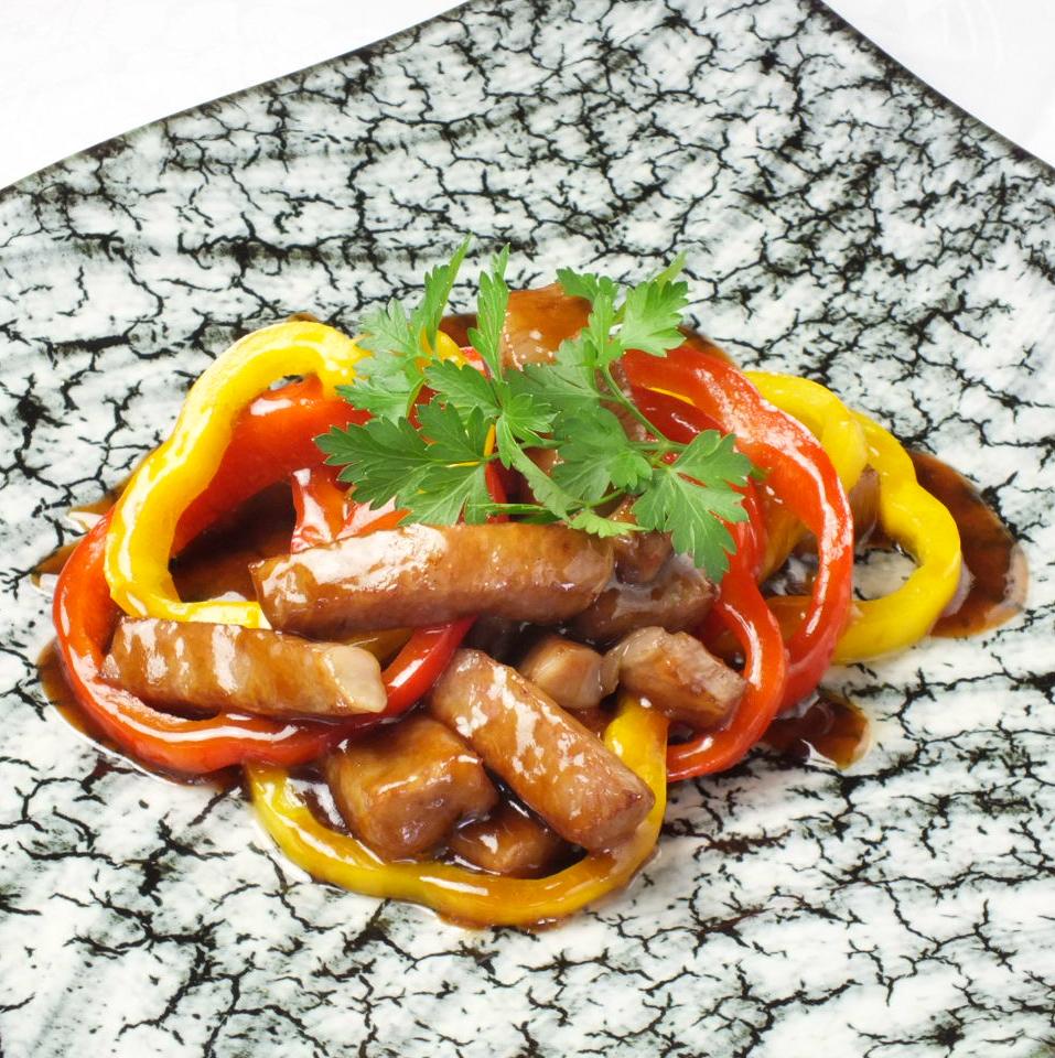 非常瘦的肉米精心挑选的红肉