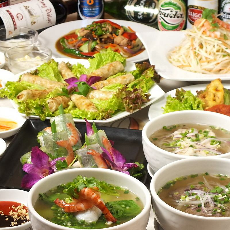 Michelin Tokyo 2017 published ☆ ☆ Ikebukuro's well-established Vietnamese restaurant.Girls' party party · entertainment · birthday ◎