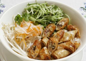 Fried spring roll rolled rice vermiculite