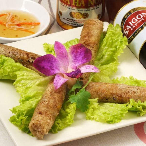 "Posted in Michelin Tokyo 2017! ""Amiami fried spring roll (4 pieces)"".The most popular menu that goes well with beer ♪"