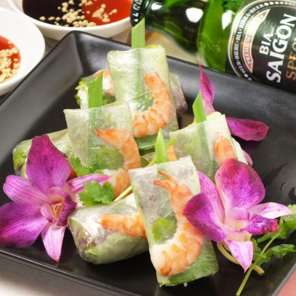 "A lot of vegetables ◎ Rice cake texture ""Raw spring roll (3)"""
