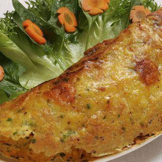 Seafood crispy pancake