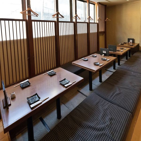 A dormitory seat where the legs can be stretched can accommodate up to 24 people.♪ perfect for banquets etc. You can use it for various banquets.Fuchu / Izakaya / All-you-can-drink / Japanese sake / private room / private room / course / sashimi / fish / meat / tasty