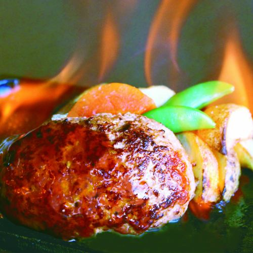 鹿児島県産 さつま黒毛和牛100% 炎のレアハンバーグステーキ S(160g)/M(200g)