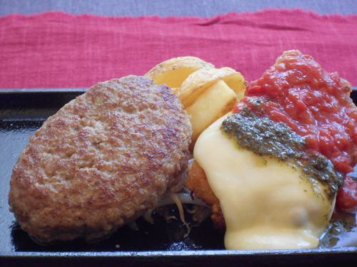 ハンバーグ(160g)&イタリアンチキンコンビ