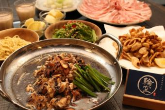 Grilled Nabe Course 【Black】 Fragrance of syrup and hemp oil! 1 serving 2680 yen