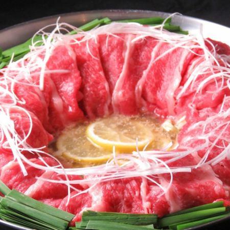 天ぷらと日光霧降高原 牛炊き鍋コース2時間飲み放題付料理9品+500円で全てのドリンク飲み放題