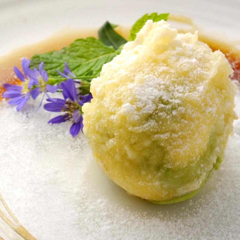 抹茶アイスの天ぷら