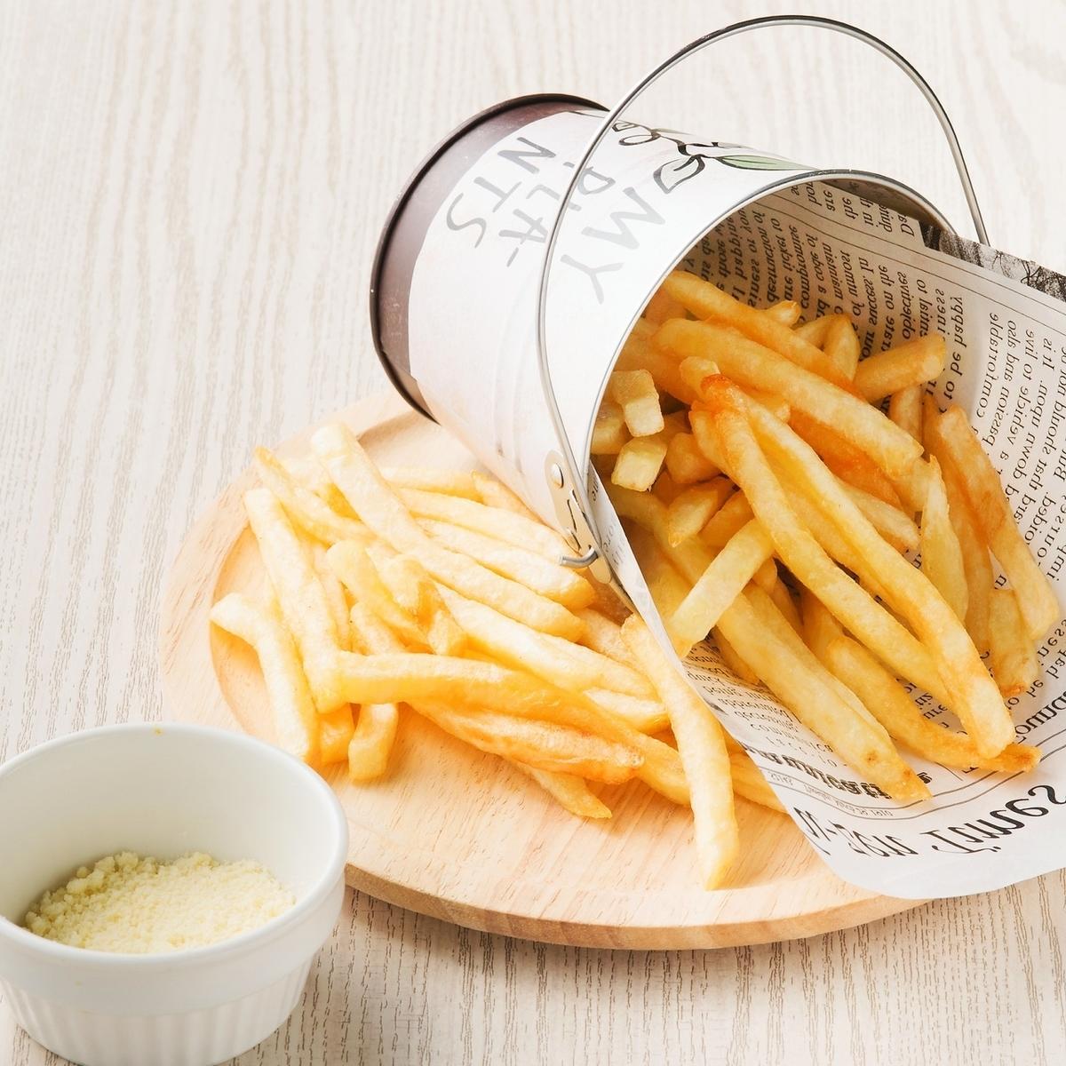 양동이 모듬 감자 튀김 (치즈)