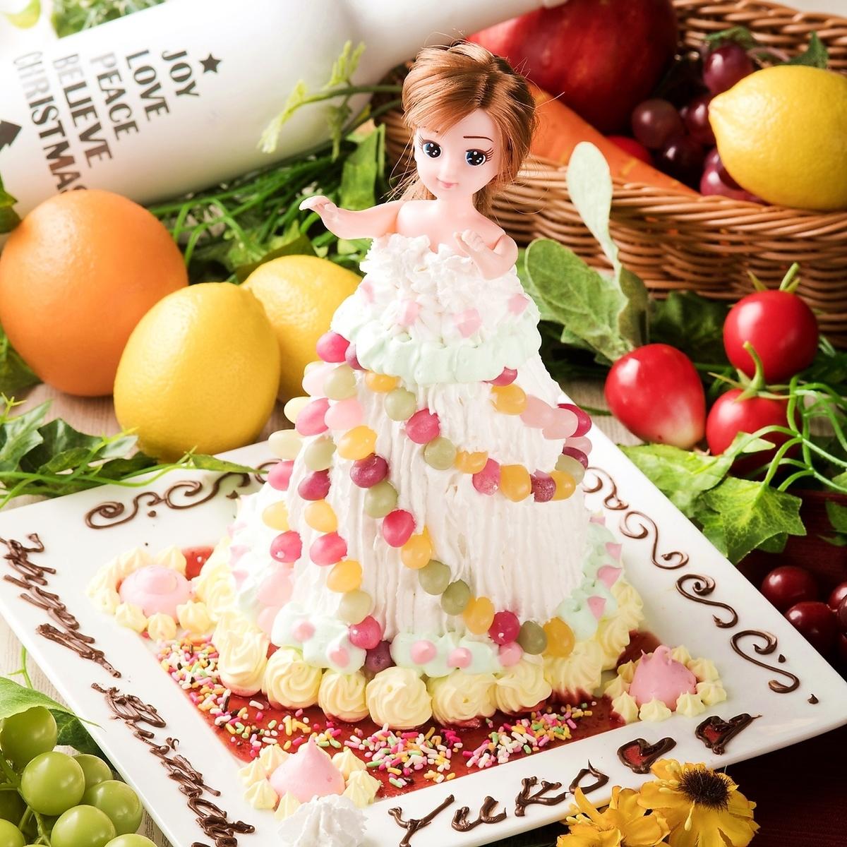 포토 제닉 ♪ 인형 케이크 등장 ☆
