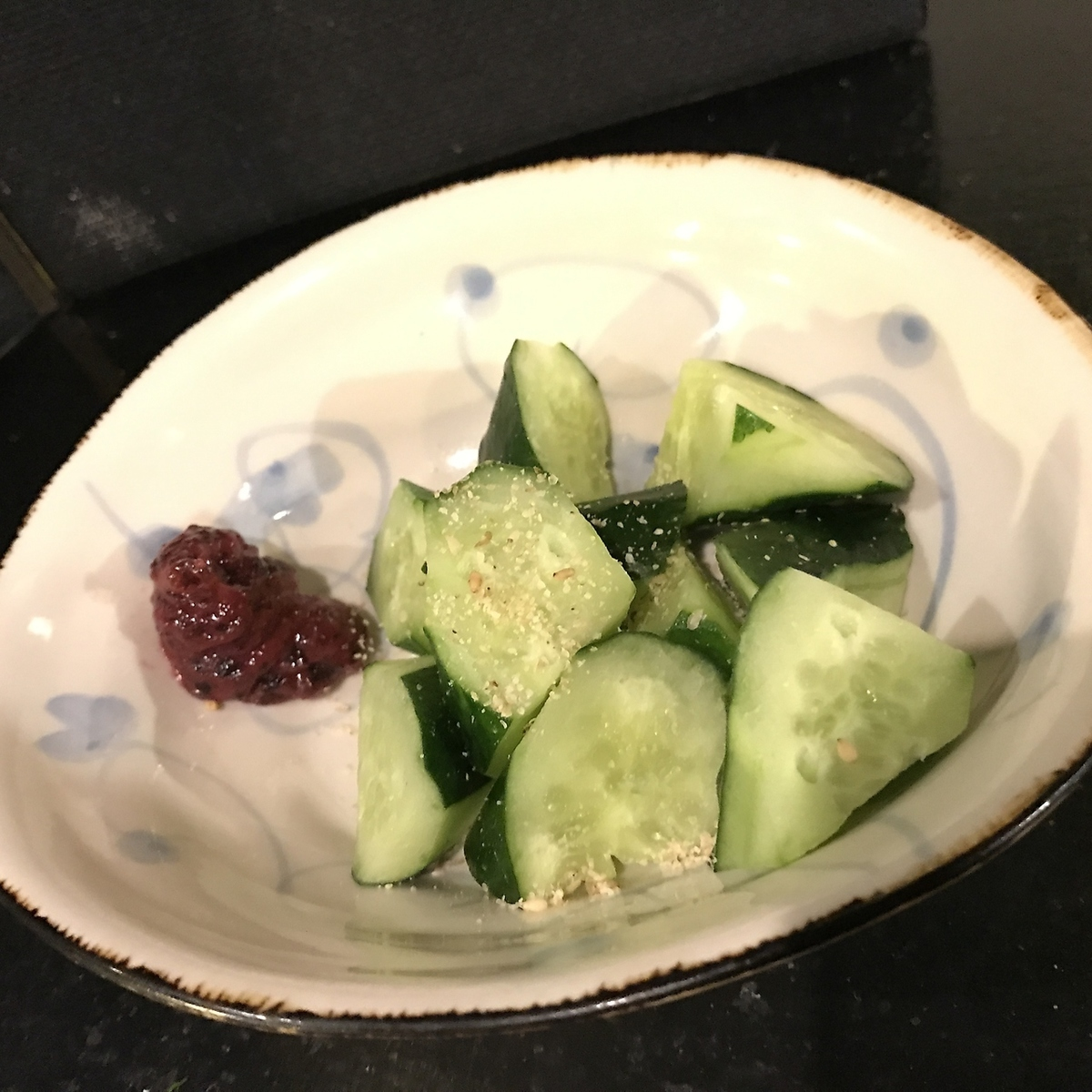Snacks cucumber (salt fish, plum meat · Mayo)
