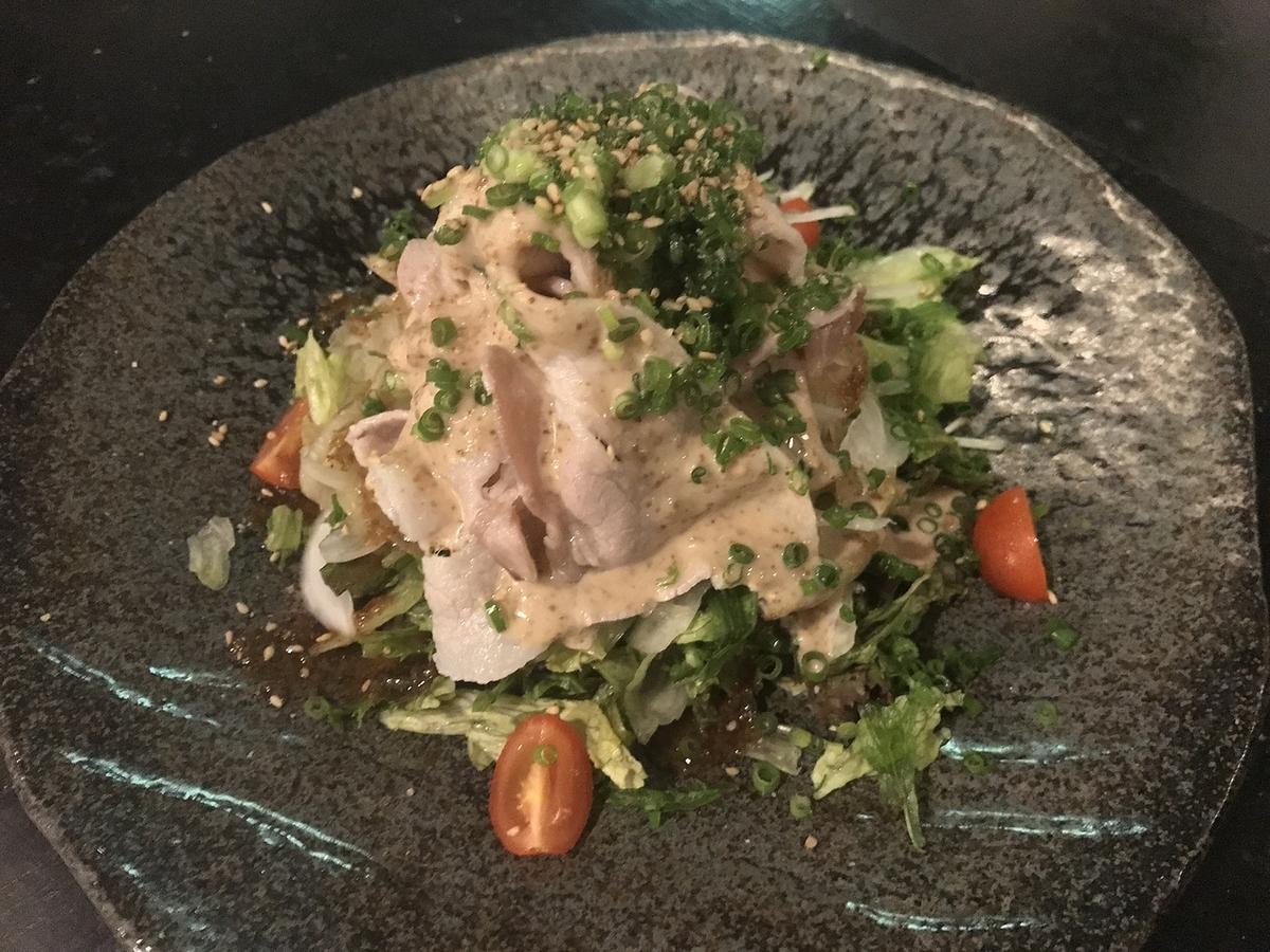 Japanese style pork shabu salad