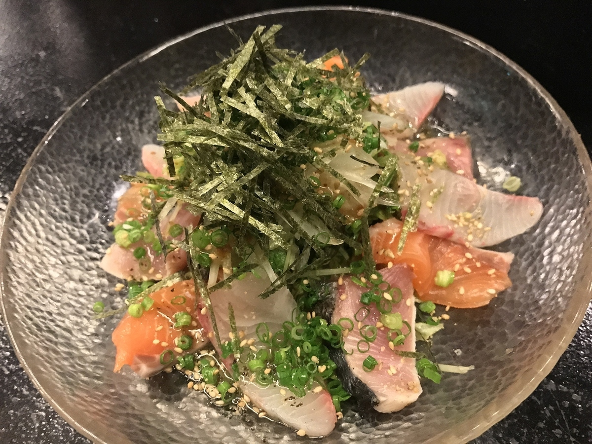 Daily seafood salad carpaccio