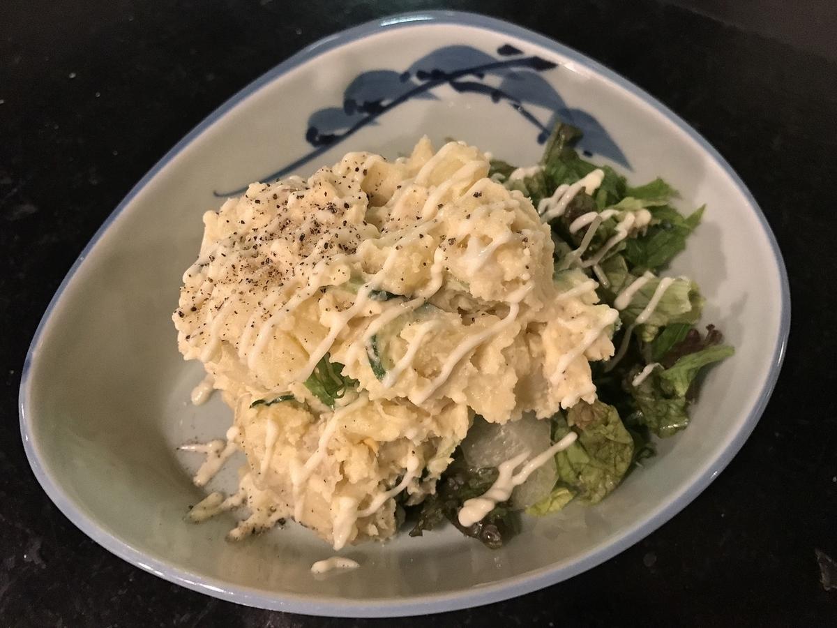 Handmade potato salad