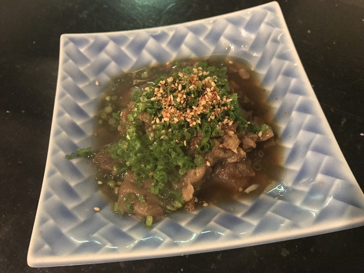Simmered domestic beef tsushi
