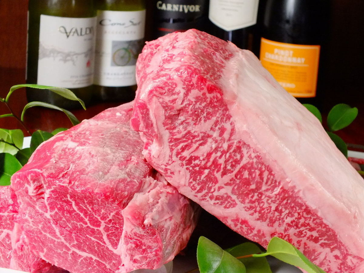 Specialty Materials! Sirloin and carefully fillet meat selected carefully Kuroge Wagyu beef 100 g