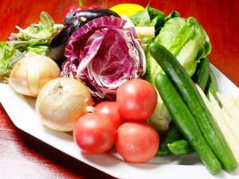 Salad directly from the farmers fresh vegetables