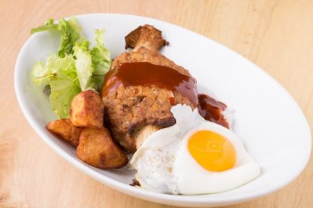 Roamomoko rice bowl of hamburger steak