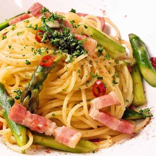 Daily special pasta, prepared with abundant variety such as green curry ♪