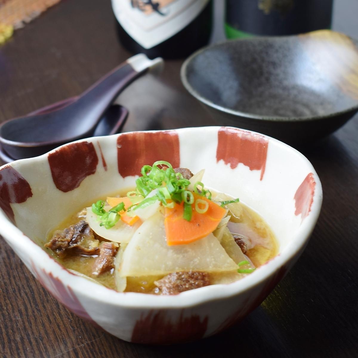 Braised beef miso sauce