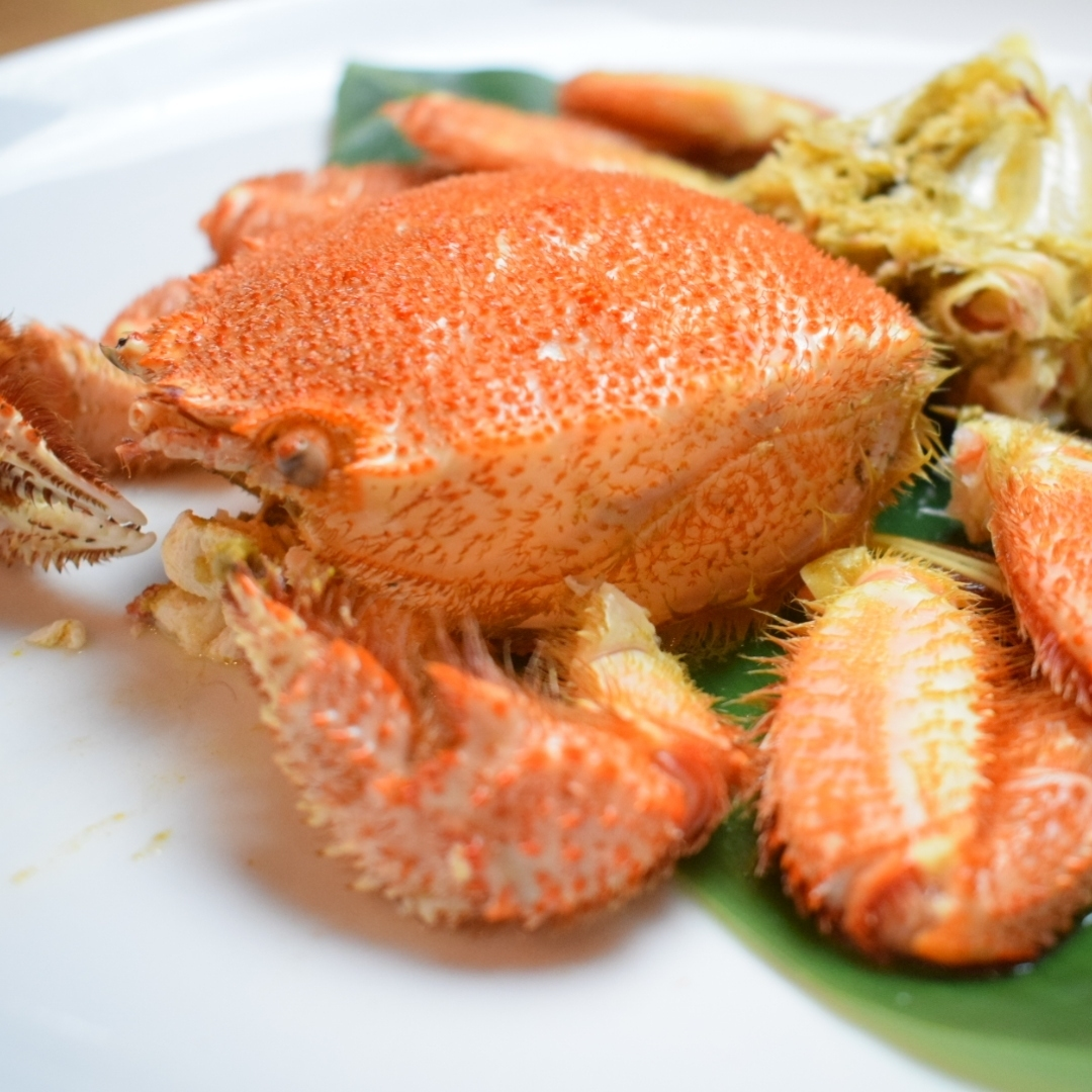 Hama boiled hair crab