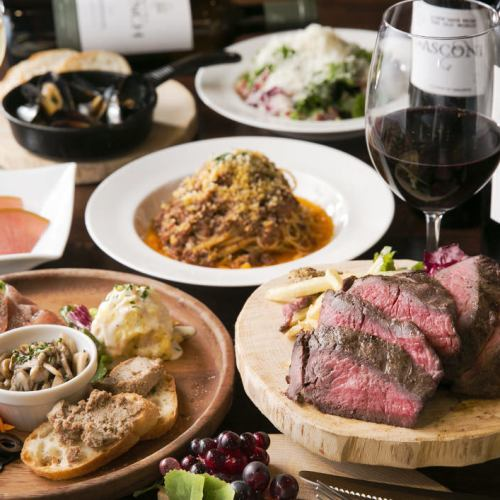 120 minutes with all you can drink ★ Roast beef course