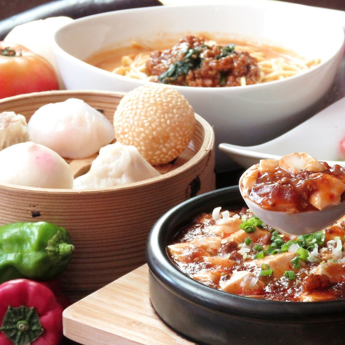 有名ホテルで修業した中華一筋18年の店主が作る料理は逸品ばかり