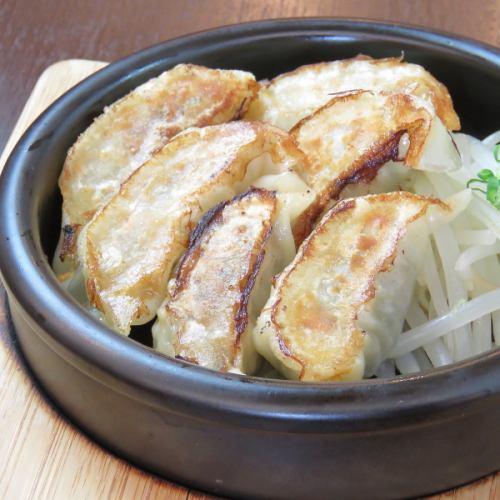本気の鉄板焼き餃子(6個)