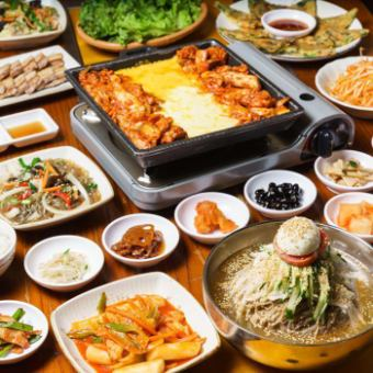 Cheese Taccarbie · Samgyeopsal + Cold noodle etc. All 20 items with all you can drink is 5800 yen → 3700 yen !!