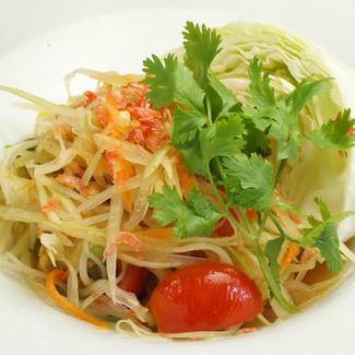 曼谷風格的藍色番木瓜沙拉(S號)
