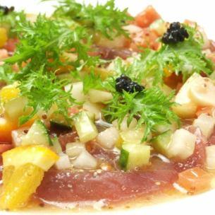 Today's fresh fish carpaccio