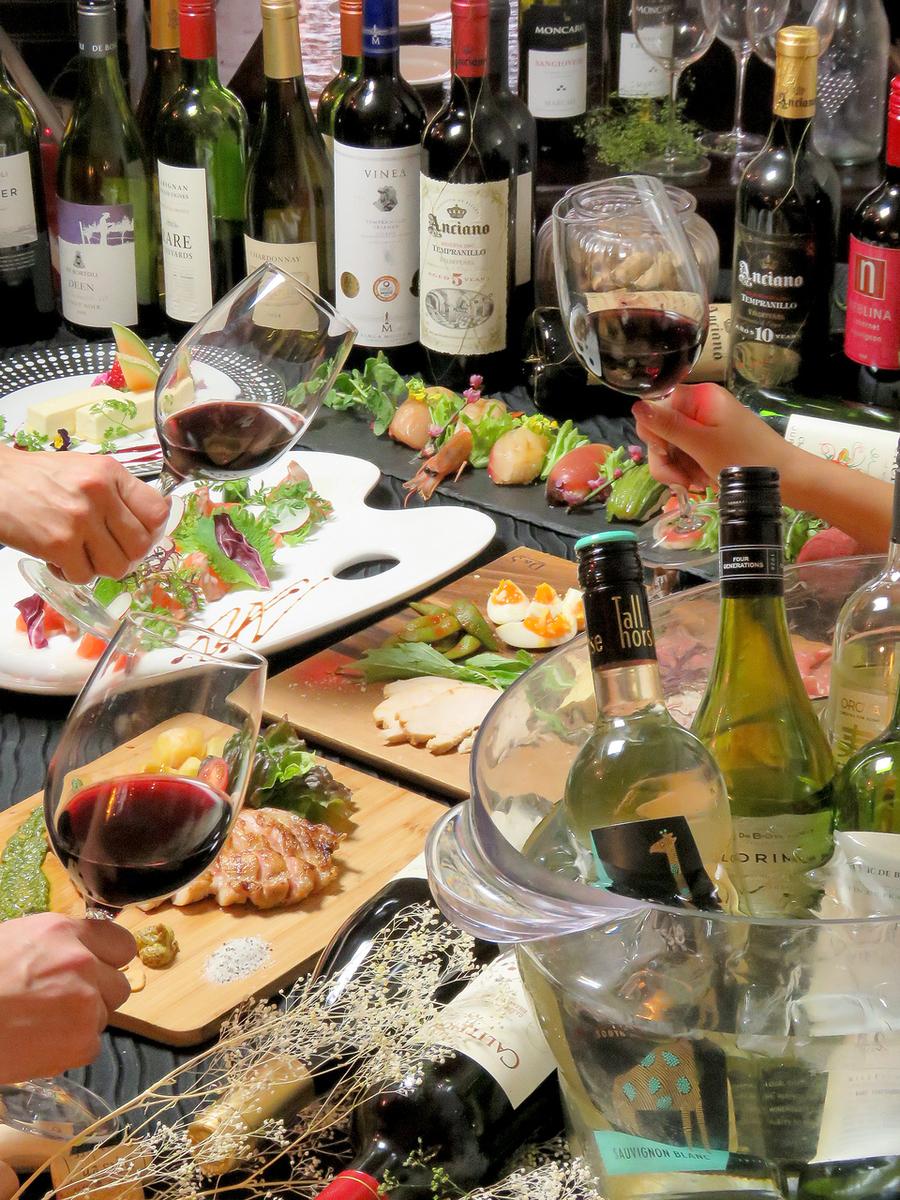 Wine buffet 4000 yen ♪