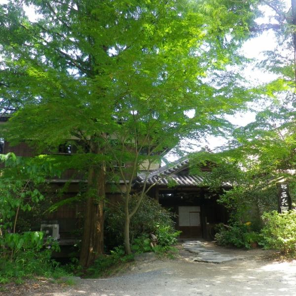 Main building entrance.The dignified tatami of Japanese houses is full of adult hideouts.Satoyama vegetable dish in harmony of nature and sum.