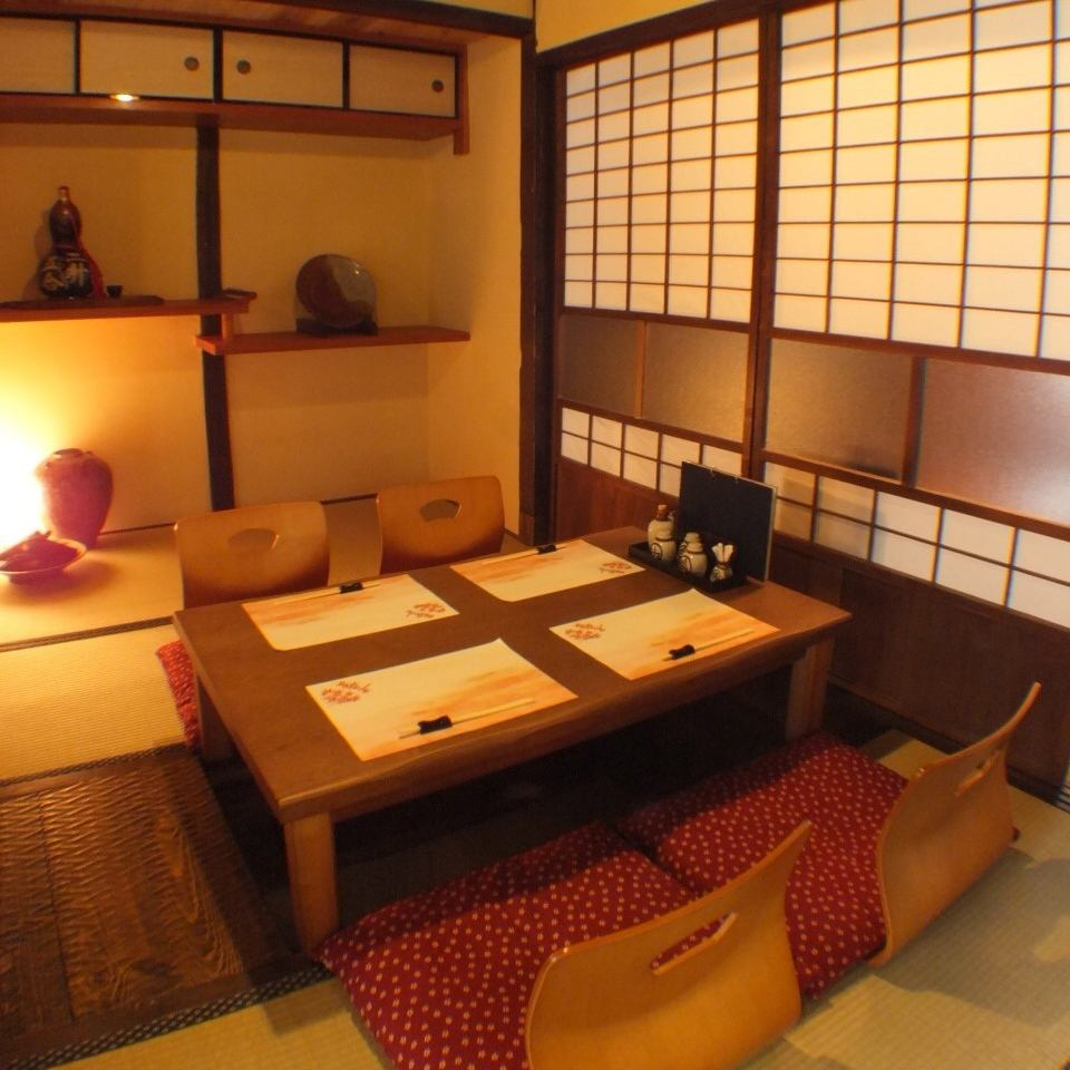[Baptism has been calm space] hideout in a renovated Machiya of Meiji.Tavern stick to the ground material