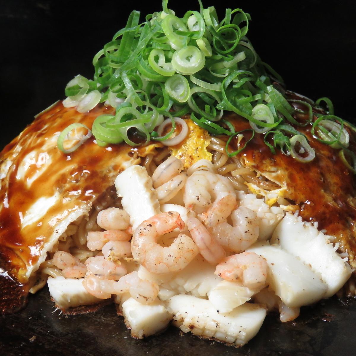 喜好烧(虾,鱿鱼,山羊,荞麦面或乌冬面)