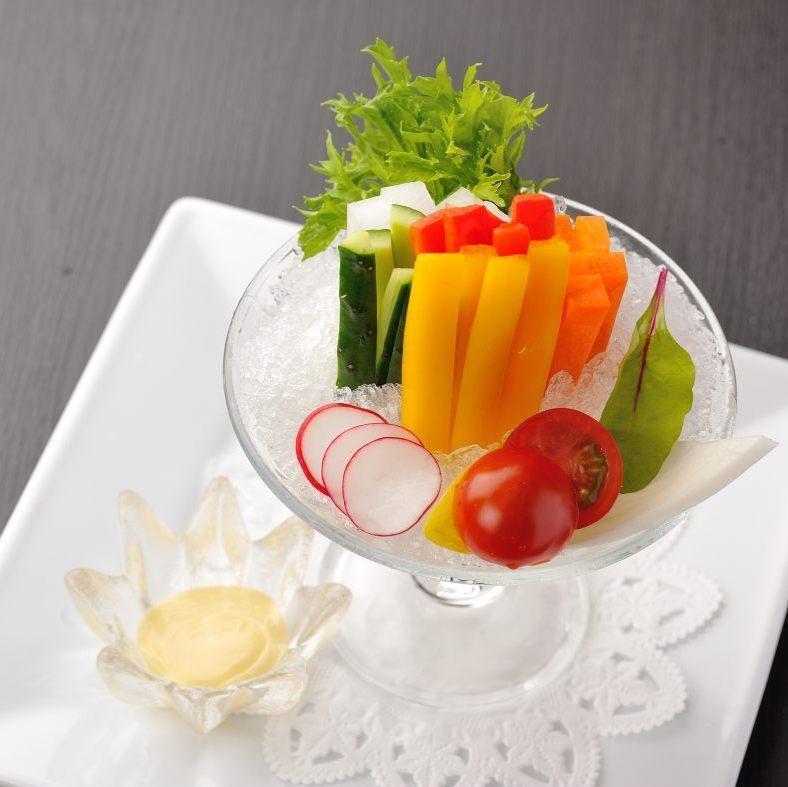 野菜スティックサラダ(みそ風味マヨネーズ)