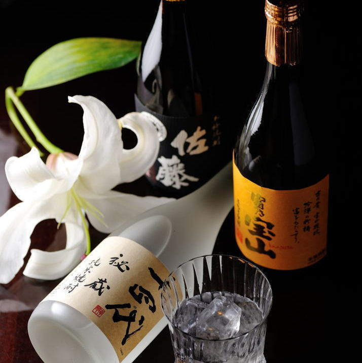 Full line shochu nationwide is also a fulfilling lineup.