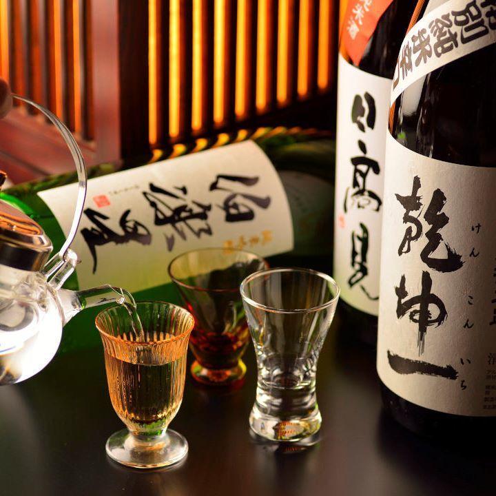 Buddhist star Junmai Ginjo sake, Hidaka Nitaka sake, Hakuon Gakujin special rice liquor (Miyagi)