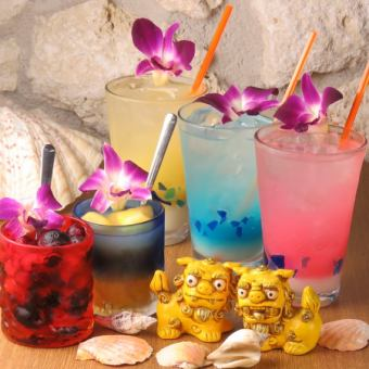 ◆任您暢飲琉球Bozu◆啤酒和雞尾酒共150種,共2小時任您暢飲2000日元(含稅)