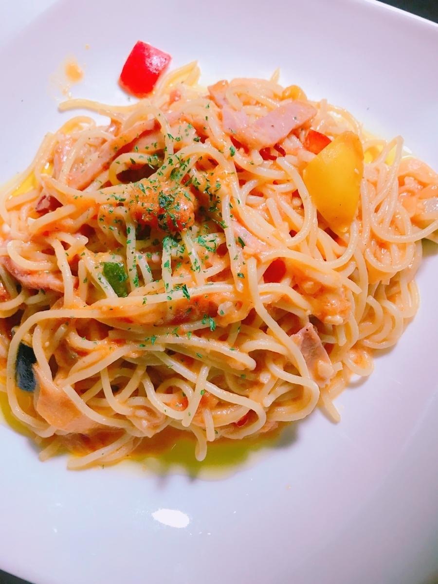 Tomato's mozzarella cheese pasta