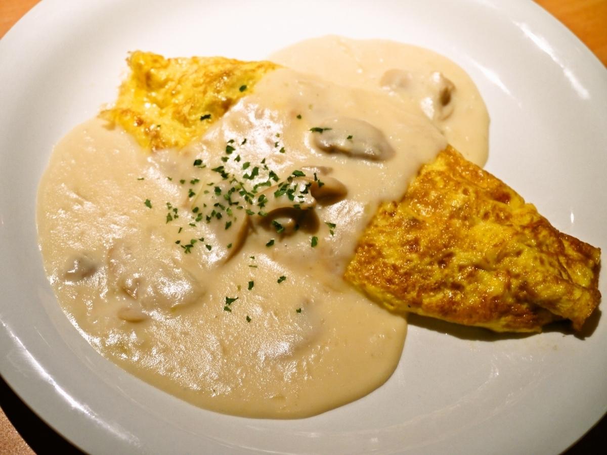Bechamel sauce omelette